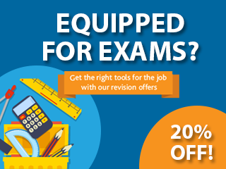 Save 20% on revision and exam practice books
